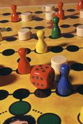 tokens dice play game freetime gambler player - stock photo