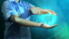 Medical Digital Graphics 3D Revolving Human Brain Stock Footage