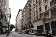 Downtown Los Angeles Street View - stock photo