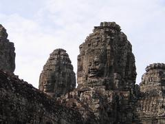 face asia belief building culture religion khmer - stock photo