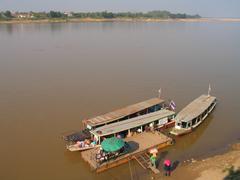 Water asia river travel thailand mekong pier Stock Photos