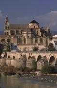 Cathedral mosque view puente romano mezquita in Stock Photos