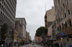 6th St in Downtown Los Angeles Stock Photos