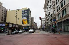 4th Street in Downtown Los Angeles Stock Photos