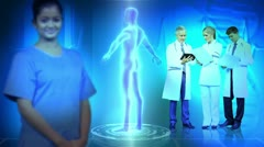 Medical Professionals CG Digital 3D Graphics Male Figure Stock Footage