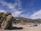 Beach travel playa burriana nerja malaga spain Stock Photos