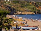 Beach travel playa burriana nerja malaga spain Stock Photos