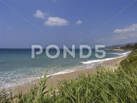 Stock photo of beach travel close barbate cadiz andalucia spain