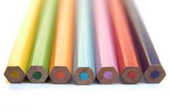abstract design crayons paint crayon colours - stock photo
