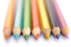 Abstract design crayons paint crayon colours Stock Photos