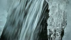 Iced water source Stock Footage
