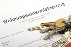 House apartment bunch keys hire contract key Stock Photos