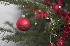 Christmas tree ornament ball decoration jewelry Stock Photos