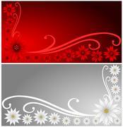 Poinsettia Banners Stock Illustration