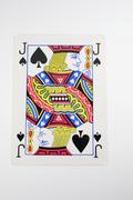calamity high playing card jack spades game jock - stock photo