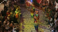 HD Stock Footage 1080p - Clowns dance for crowd Stock Footage