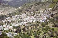 Stock Photo of landscape mountain village filoti naxos cyclade