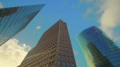 Potsdamer Platz skyscrapers - stock footage