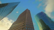 Potsdamer Platz skyscrapers Stock Footage