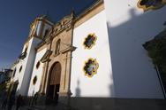 Stock Photo of church in ronda building sacral society