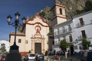 Stock Photo of church zahara de la sierra small andalusia