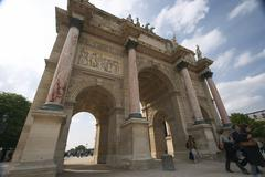 Triumphal arch arc de triomphe du carrousel Stock Photos