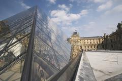 art glass fassade window glasshouse modern sight - stock photo