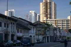 city view kampong glam street scene in singapore - stock photo