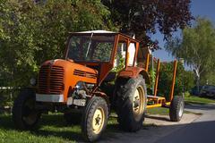 tractor old st georgen eisenstadt area sterreich - stock photo