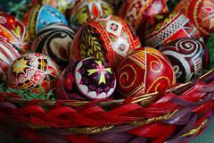 Pääsiäinen uskonnollinen traditio Ukrainan munat Kuvituskuvat
