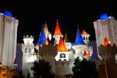 Stock Photo of casino castle tourist white excalibur hotel las
