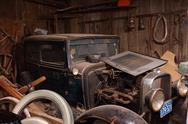 Car antiques door dust rust wreck 1930 marquette Stock Photos