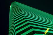 Casino dark glow green modern lit mgm hotel Stock Photos