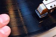 Music art game groove hip hop needle scratching Stock Photos