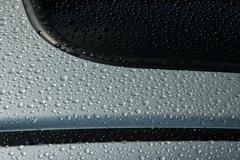 Car abstract water sport black closeup curve wax Stock Photos