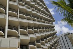 Beach pattern balcony diagonal sea tourist view Stock Photos