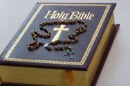 Book catholic god gold meditation prayer symbol Stock Photos