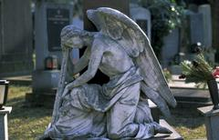 angel belief cemetery die end farewell final - stock photo