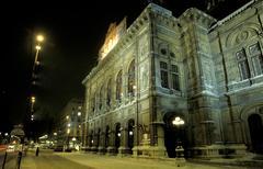Art night exposure sight stage tourism viennese Stock Photos