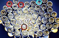 Stock Photo of energy batteries studio battery supply power