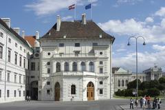 office hofburg presidency in building landmark 1 - stock photo