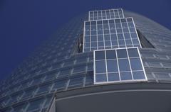 house glass fassade modern skyscraper tower - stock photo