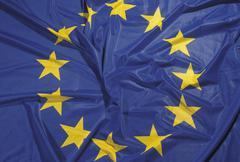 Star banner blue circle europe politics yellow Stock Photos