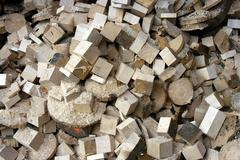 Industry saw mill wood remainder working in Stock Photos