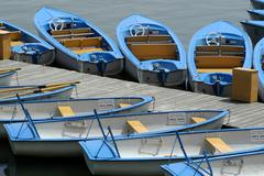 Stock Photo of summer leisure time recovery boats old danube