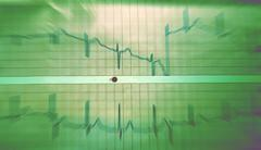 Medical heart paper diagnostic finding illness Stock Photos