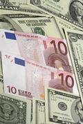 money bill dollar euro means payment ten usd 10 - stock photo