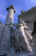 barroque column detail god sacral building - stock photo