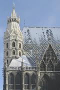 Winter belief cathedral catholic snow st covered Stock Photos