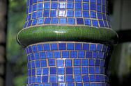 Art artist blue colorful column detail building Stock Photos